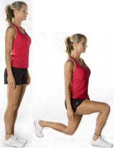 body-weight-lunges