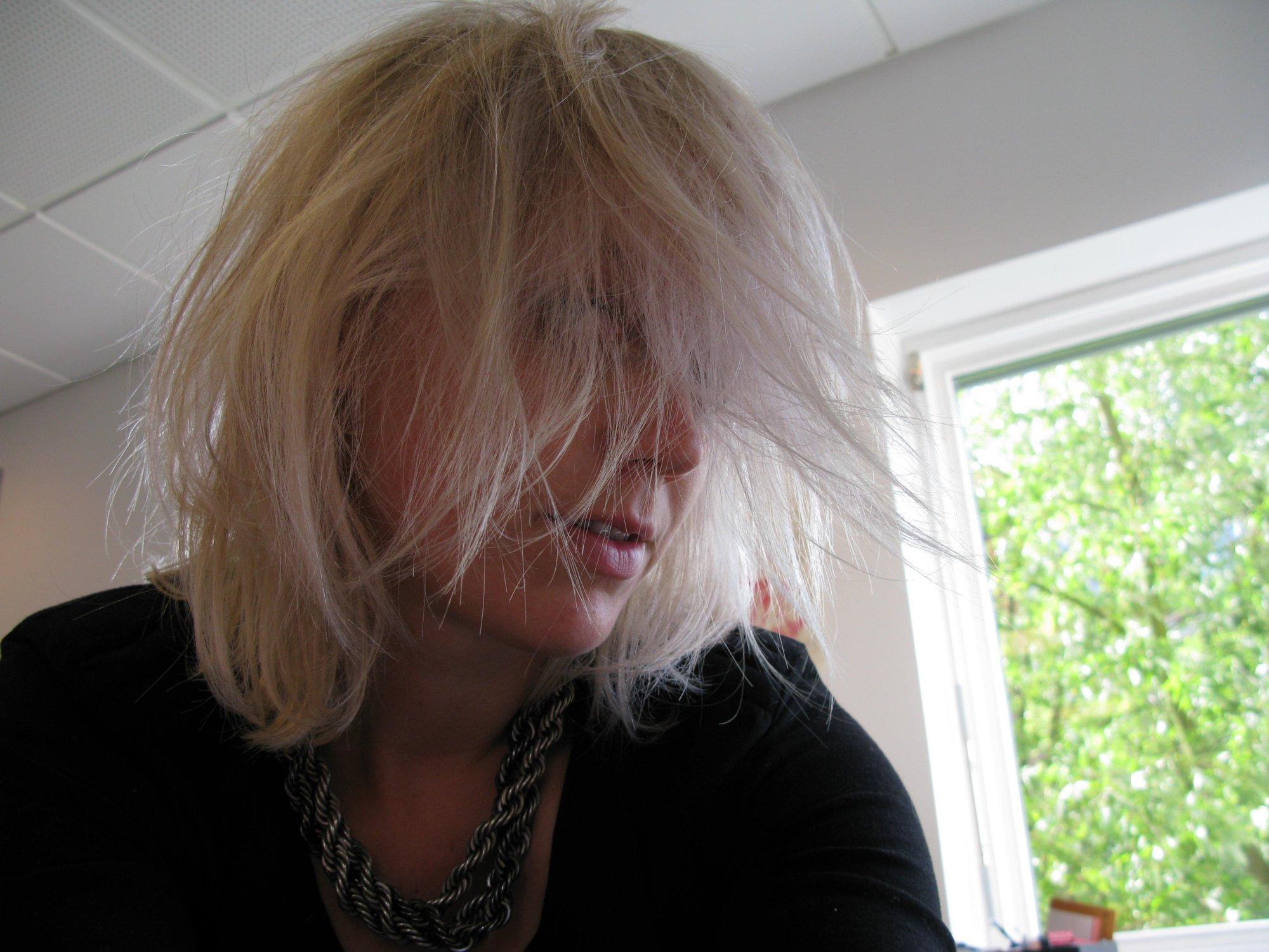 Fluffy hår, på den gode måde