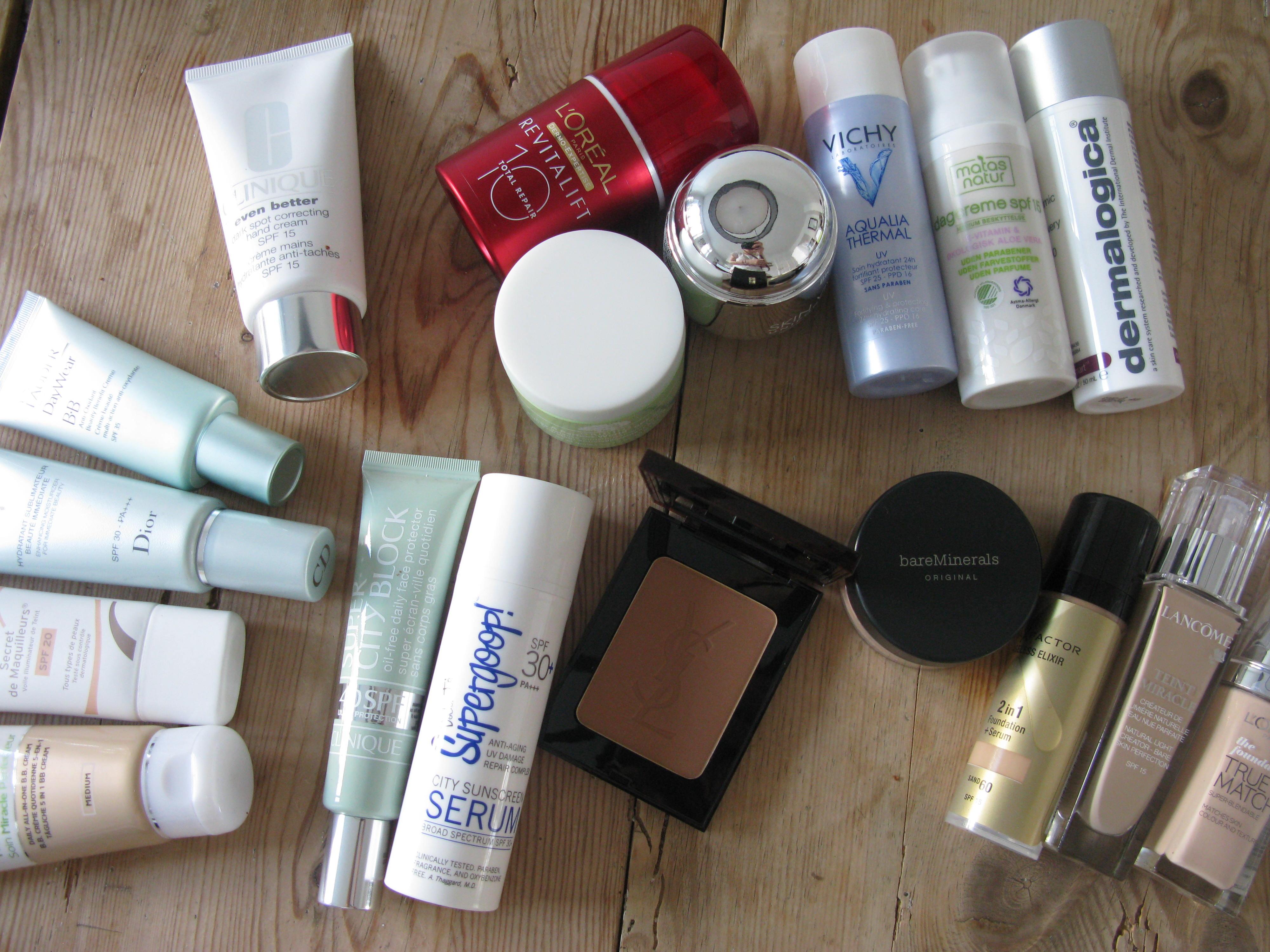 Produkter med SPF