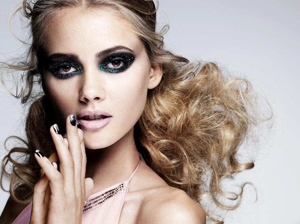 Sådan bruger du glimmer makeup