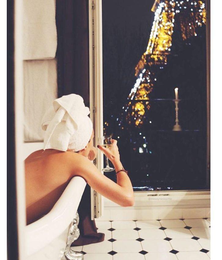 On my mind paris champagne bathtub peace