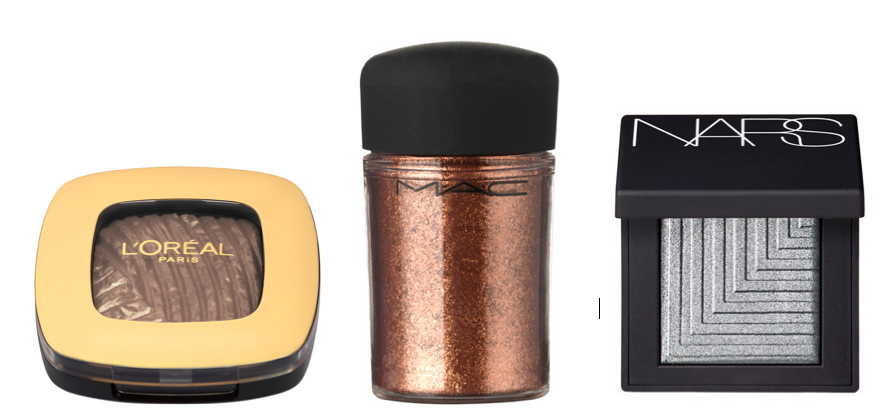 metallic eyeshadow you blush