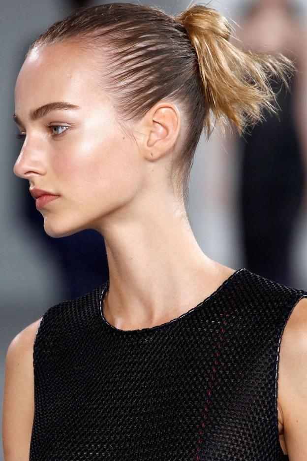 how to make wet look hair