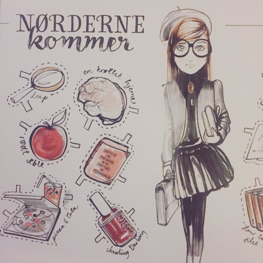 Trendseminar with lorealparisdk returnofthenerds ss16 youblush beautyblogger sararostrup illustration byhellip